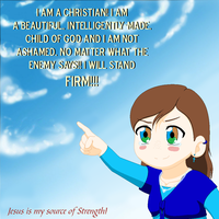 'I am a Christian' by LoveAnime321
