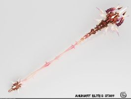 Anuhart Elite's Staff: AION Fanart by Samouel