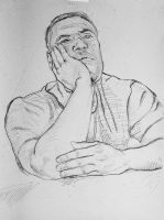 Thoughtful Man - Sketch no #003 by tutanvaly