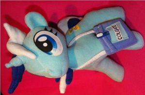 mlp fim ooak colgate / minuette fanmade plush by quantumcreations