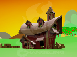 Sweet Apple Acres Barn 3D Render by Chaosaholic