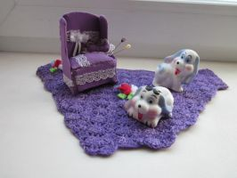 The pin cushion chair color purple by Dash-Ing-Nerro