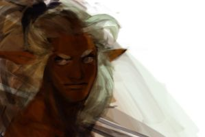 Guy with silvergray hair by sweetmoon