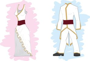 concept of weeding dress and cutaway by tudisco
