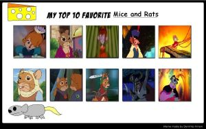 My Top 10 Mice and Rats by J-Cat