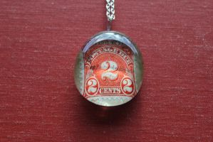 Postage Due Pendant by BlueSpecsStudio