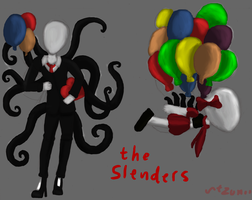 The Slenders Balloons by tzumii