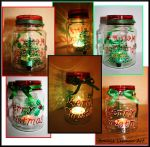 Festive Christmas Candle Holder by Bonniemarie