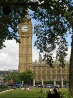 Big Ben among the trees by DarkGothicRussia555