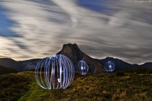 Light balls on the hill. by MarioGuti
