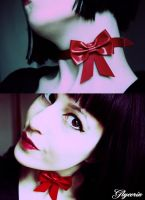 Bow choker by DivinityCreature