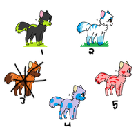 Kitty Adoptables [4/5 Open] by Tailji