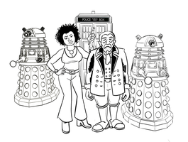Doctor Who fancomic concept sketch by Reinder