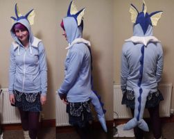 Vaporeon Hoodie by TrafficConeCreations