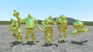 golden tf2 robots! (some) by Catty-Mintgum