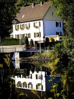 House on the riverside by Gin-ny