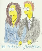 The Royal Couple Simpsonized by TheSimpsonsFanGirl