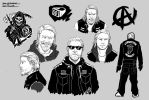Sons Of Anarchy: Jax Teller Sketches by kenji893