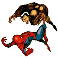 Spidey vs. Wolverine by ginoroberto