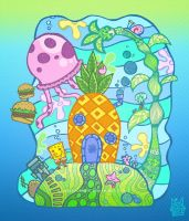 who live in a pineapple under the sea? by salvadorkatz