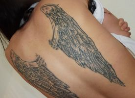 wings tattoo by D3adFrog