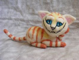 Needle Felted Cheshire Cat by CVDart1990