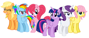 Team Mane Six by MrMaclicious