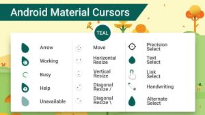 Android Material Cursors (Teal) by MJ-lim