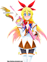 Nisekoi Chitoge magical girl render by sharknex
