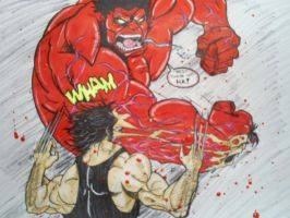 General Rulk vs Wolverine by papabear7