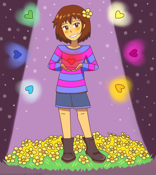 Frisk - Stay Determined! by MaidenJun