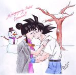 XMAS'09: Gokou and Chi Chi by hirokada