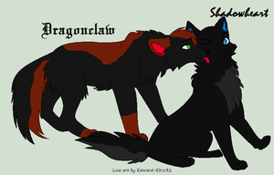 Shadowheart and Dragonclaw wolf forms by ShadowSixxx