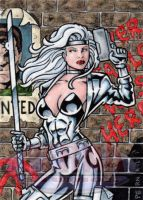 Silver Sable Sketch Card 2 by tonyperna