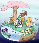 Island Of Fluffies by Lohlite