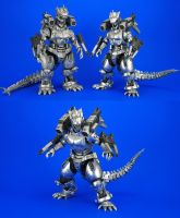 S.H.Monsterarts Kiryu + Tokyo S.O.S. armor by Lalam24
