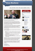 WA State Rep. MacEwen Website Design by fireproofgfx