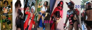 Cosplay time line before-after by CryHOg