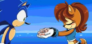 Sonic and Sally by Eva-1999