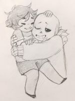 frisk is fun to hug by knightic
