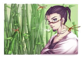 In A Forest of Bamboo and Dragonflies by PenguinAttackStudios