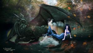The dragon and the mermaid story by annemaria48