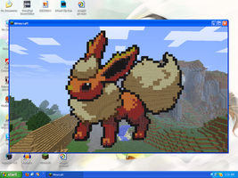 MineCraft Art - Flareon by SqueakyTachibana