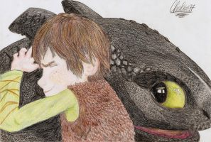 Hiccup and Toothless by Chuls97