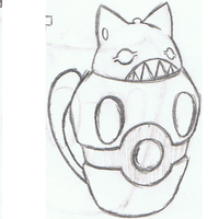 Canopic cat sketch by mssingno