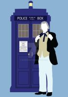 One and the TARDIS - Doctor Who by HaddonArt