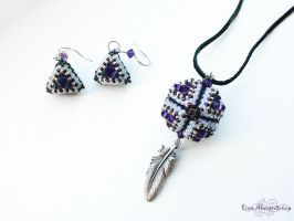 Beadwork: Purple Galaxy Set by LinaIvelle