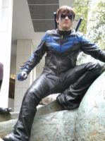 Nightwing on Patrol by Bluebird0020