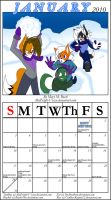January Calender 2010 by MidNight-Vixen