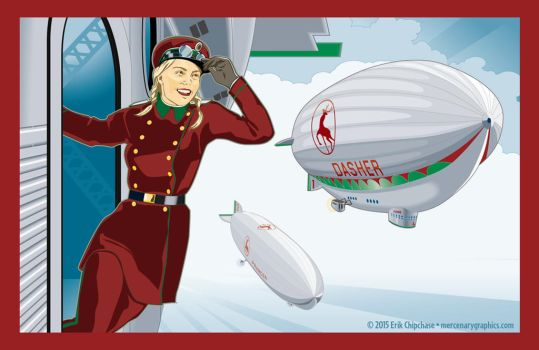 Santa's Aero Fleet by MercenaryGraphics